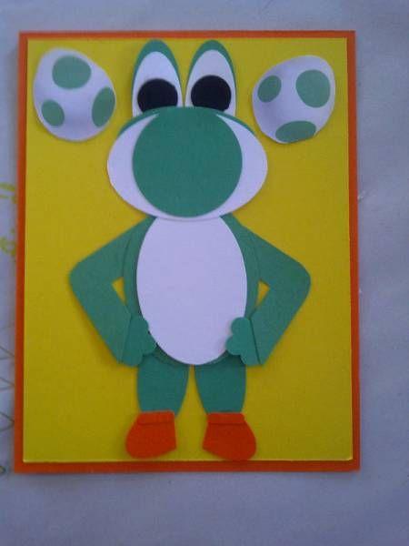 Yoshi birthday card handmade cards pinterest birthdays kids yoshi birthday card bookmarktalkfo Image collections