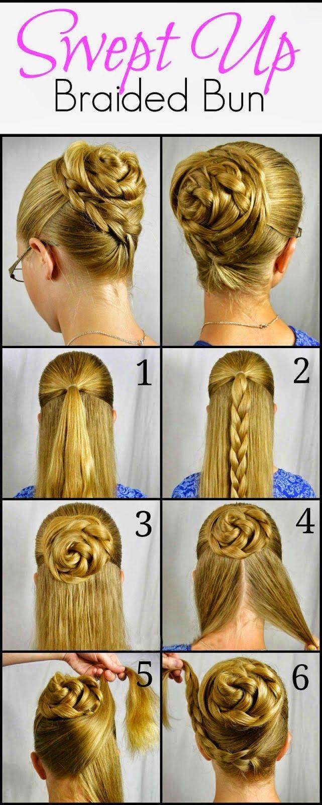 Rose Braid Bun Hairstyle Step By Step Girly Island Hairstyle