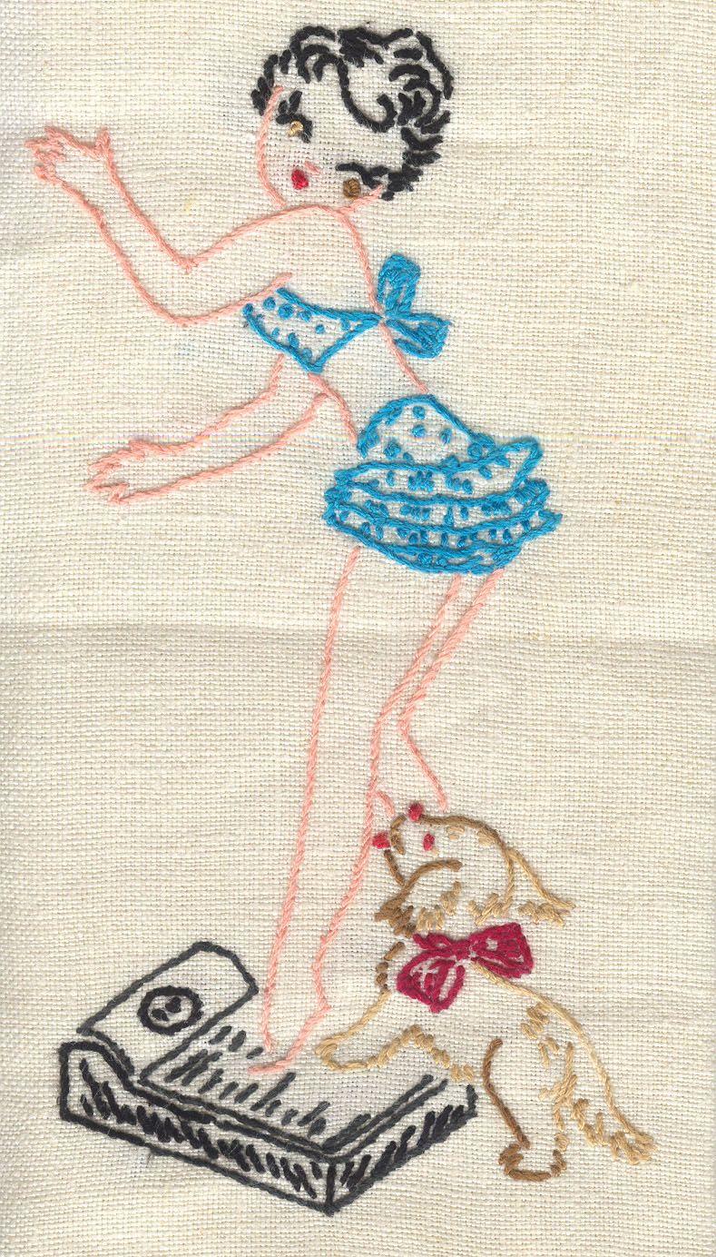 Vintage Vogart pinup towel | Bordado | Pinterest | Bordado