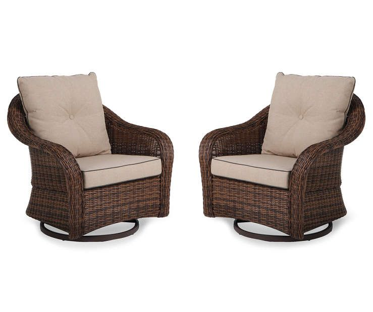Palermo 2 Piece Resin Wicker Glider Patio Chair Set At Big Lots