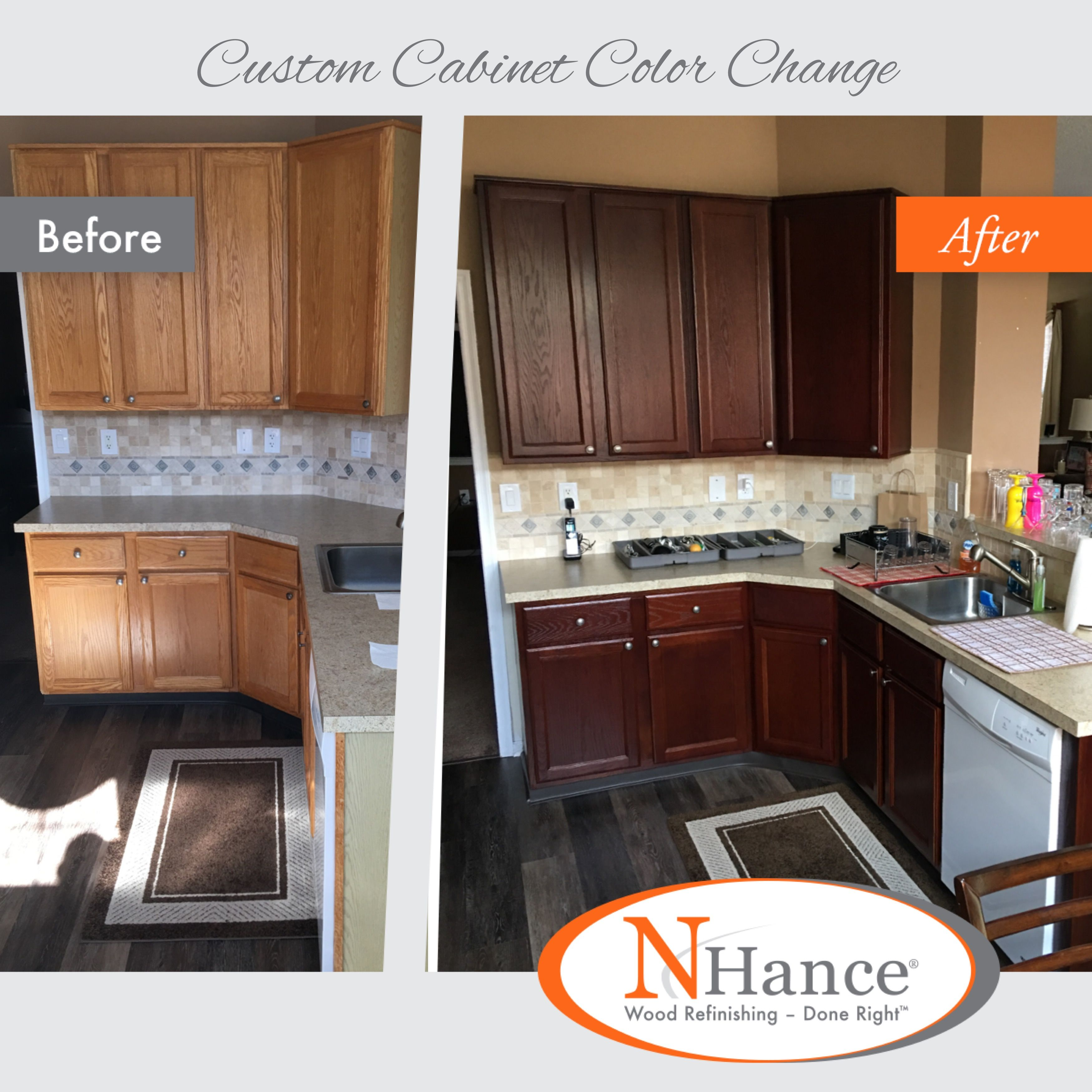 In Addition To Solid Color Options N Hance Offers Transparent Color Options For Our Color Change Serv Cabinet Colors Custom Cabinet Color Refinishing Cabinets