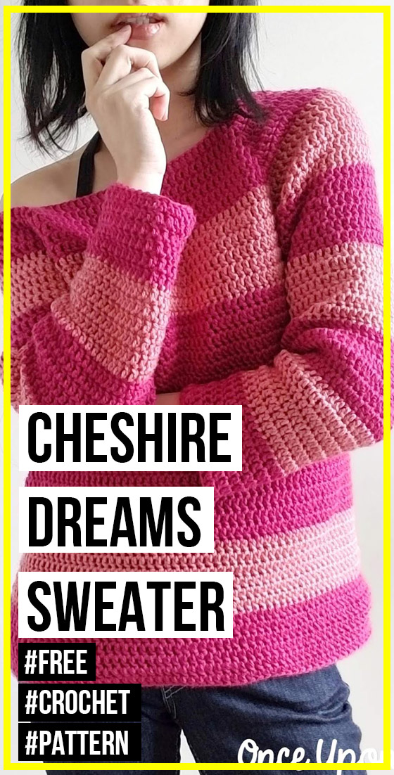 Photo of crochet Cheshire Dreams Sweater free pattern