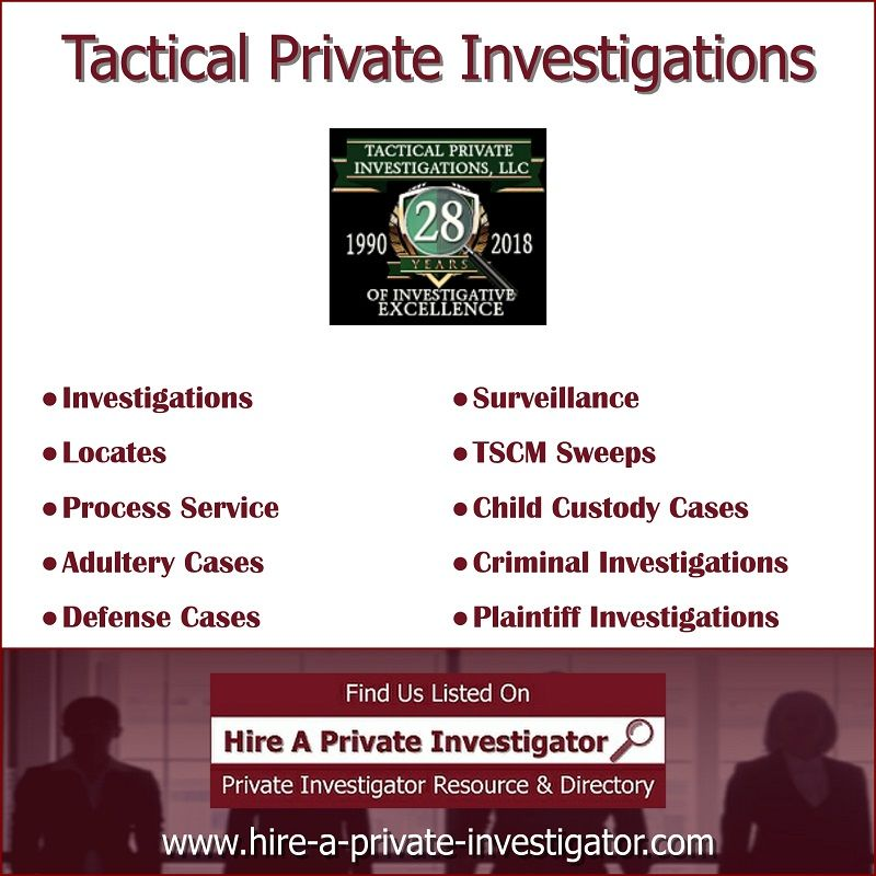 Tactical Private Investigations Private Investigator Lake
