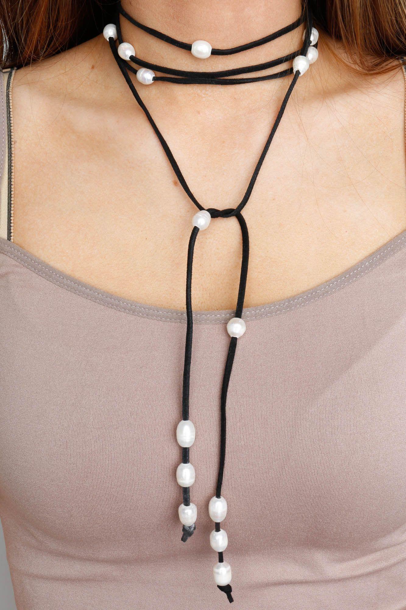 ABX Pearl Multi Cord Wrap Bracelet