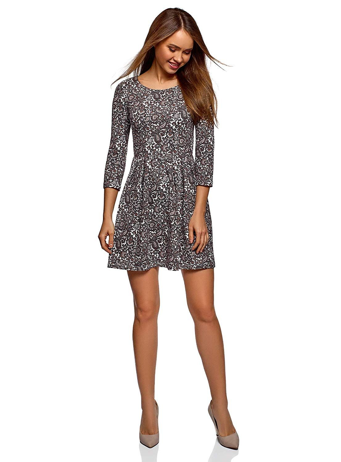 oodji #Ultra #Damen #Tailliertes #Jersey #Kleid: Amazon.de
