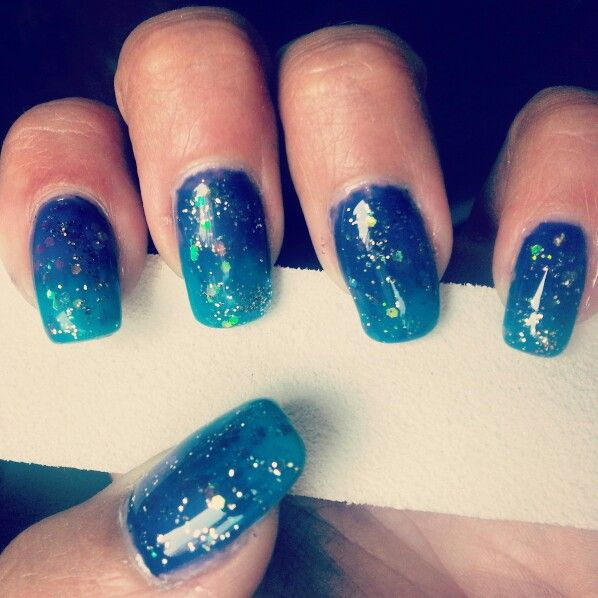 Nail art blue and violet ♡
