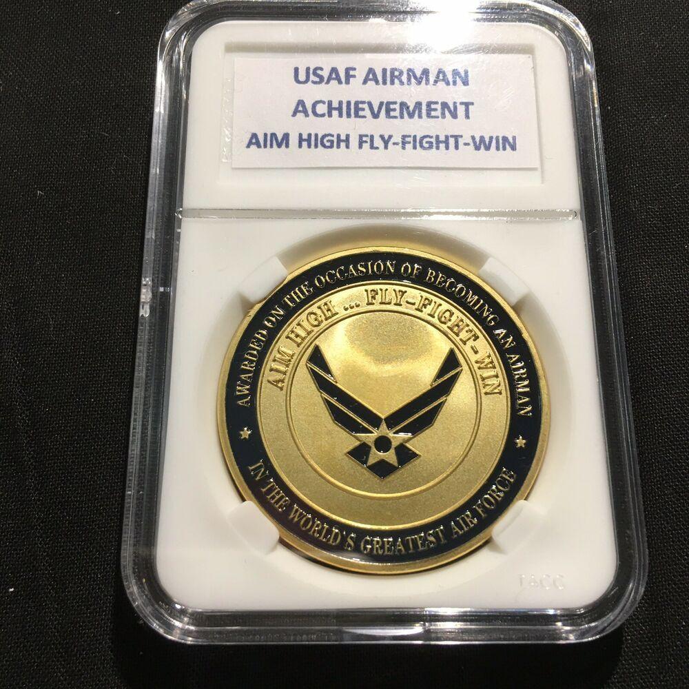 USAF UNITED STATES AIR FORCE Airman Achievement Aim High