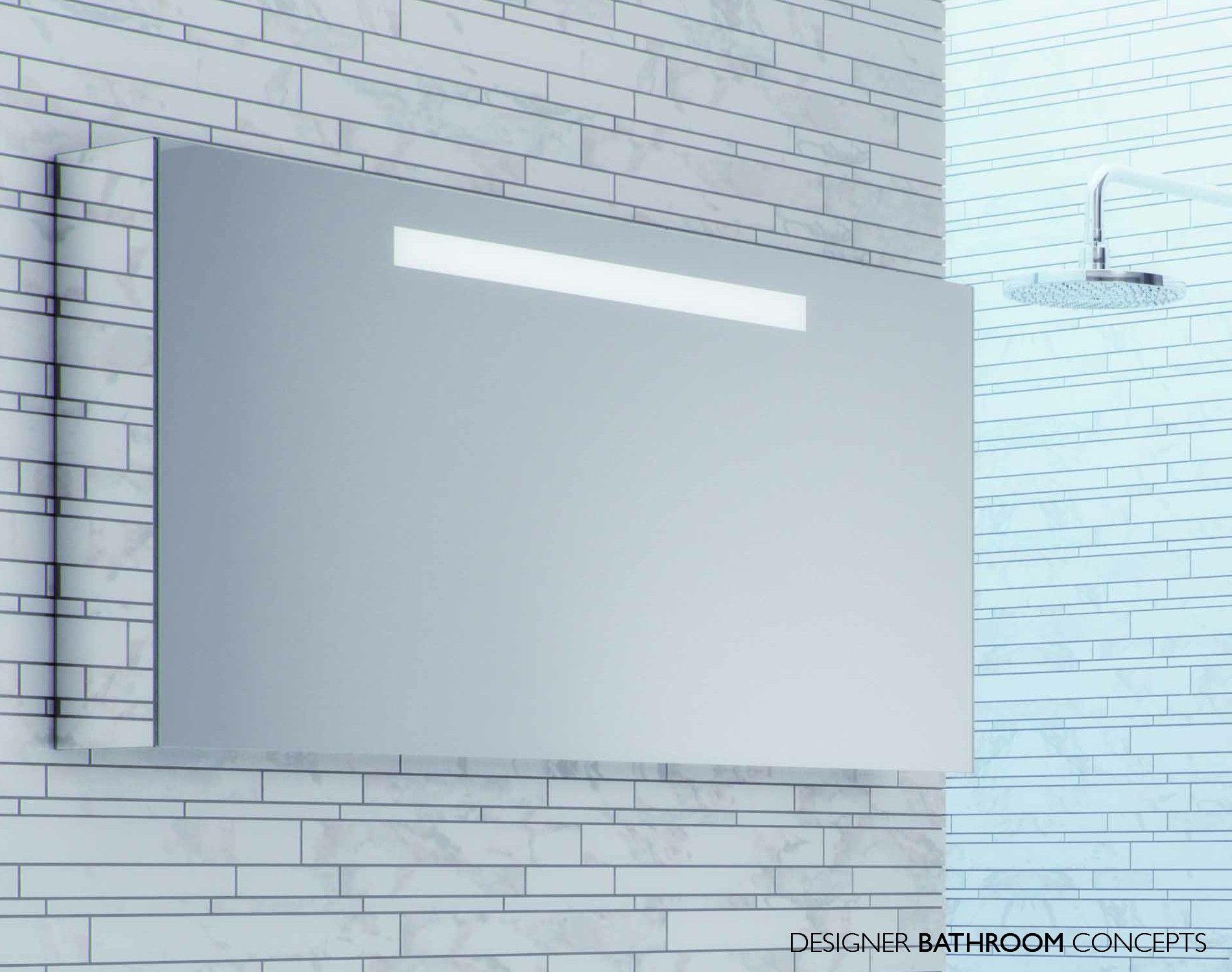 Java Designer Illuminated Bathroom Mirror Cabinet - Main Image