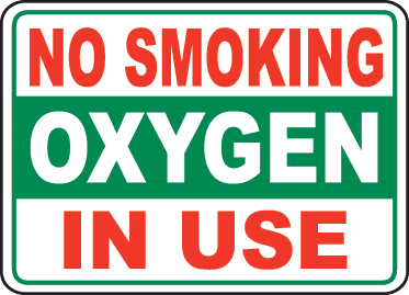 picture about Oxygen in Use Sign Printable named Pin upon Tanning