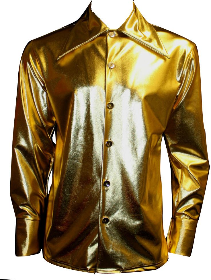 gold #metallic #wetlook #mens #shirt #fun #rave #club www ...