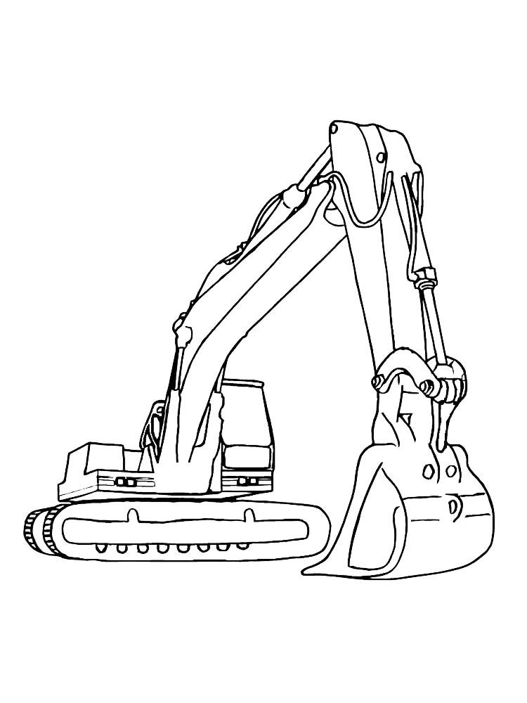 Excavator Coloring Page To Printable Excavators Are Heavy Equipment Consisting Of Arms Booms Truck Coloring Pages Cars Coloring Pages Tractor Coloring Pages