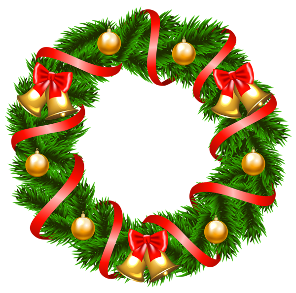 Decorative Christmas Wreath Png Clipart Image Christmas Wreath Clipart Christmas Clipart Christmas Wreaths