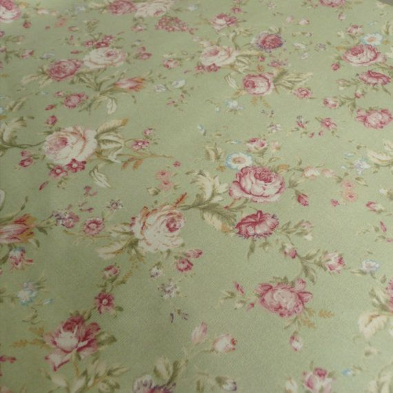 Vintage Chateau Rose Designer Cotton Curtain Fabric Soft Yellow