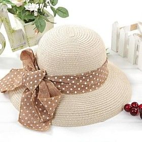 0af672e266f65 rizado sombrero de la playa de la cinta de las mujeres
