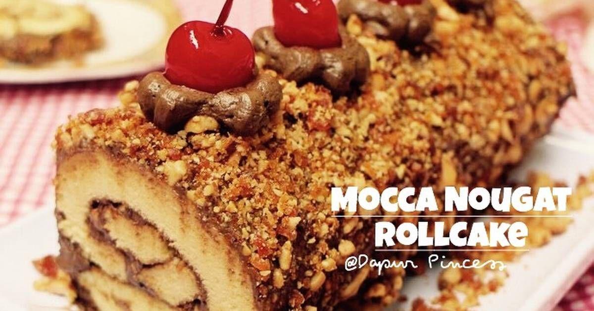 Resep Mocca Nougat Roll Cake Oleh Rindaags Dapurpincess Resep Kue Gulung Makanan Resep