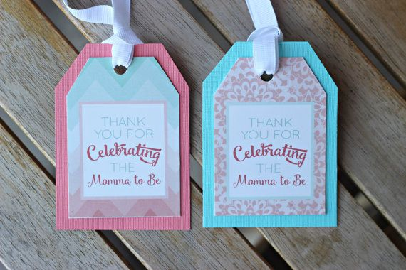 Baby Shower Favor Tags. Set of 18 fully by CharmingTouchParties