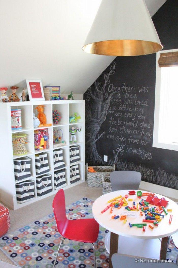 Eine Wandtafel-Wand für das kreative Kinderzimmer Noch mehr Ideen - kinderzimmer kreativ gestalten ideen