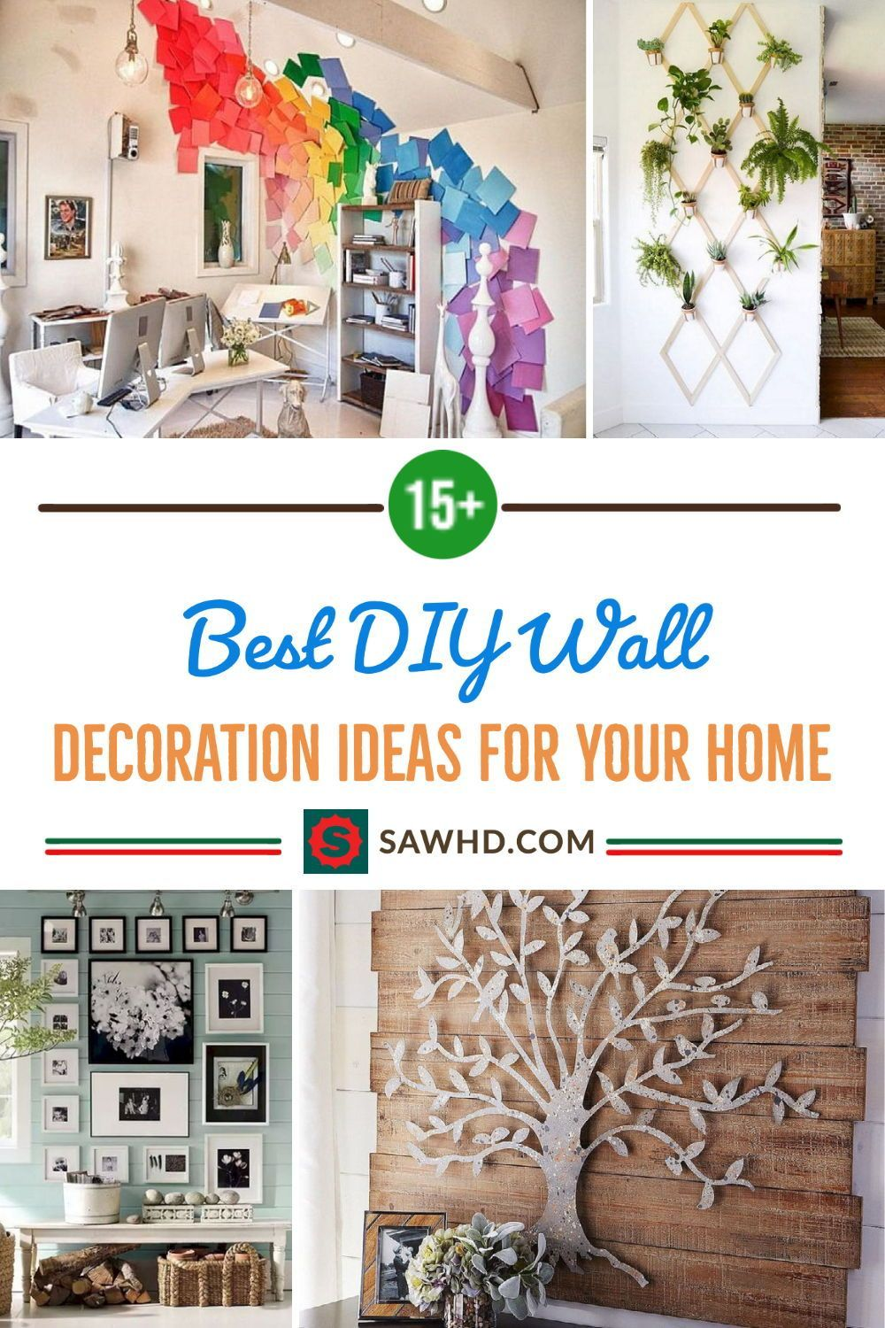 15 Best Diy Wall Decoration Ideas For Your Home Diy Rustic Wall Diy Wall Design Diy Wall Decor