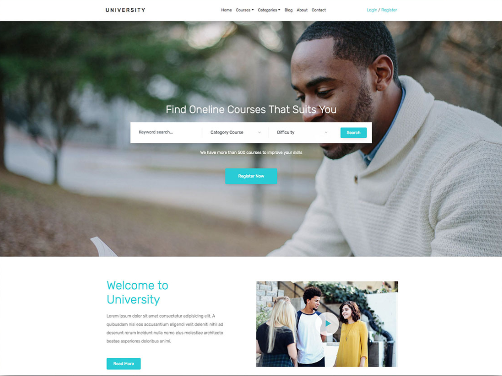 Free University Education Assistance Html Template Being A College Student Can Be Really Difficult And Hectic Because You A Education Html Templates Templates