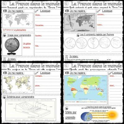 La France dans le monde : traces écrites de Géographie