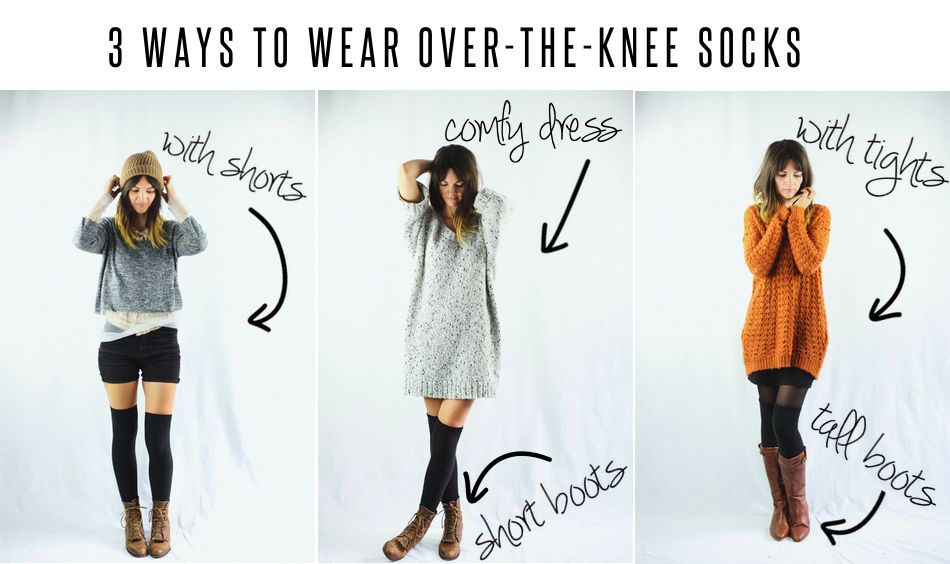 3 Ways To Wear | Fashion, Knee socks outfits, Over the