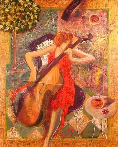 """Sonata"" by Mahmood Sabzi | Iranian Abstract Impressionist painter."