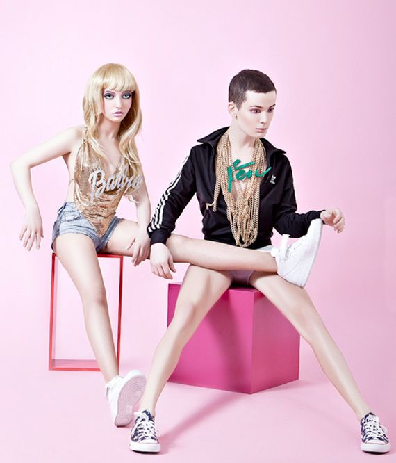 "Creepy photo shoot of what Barbie + Ken might look like in ""real life"" by Hayden Wood"