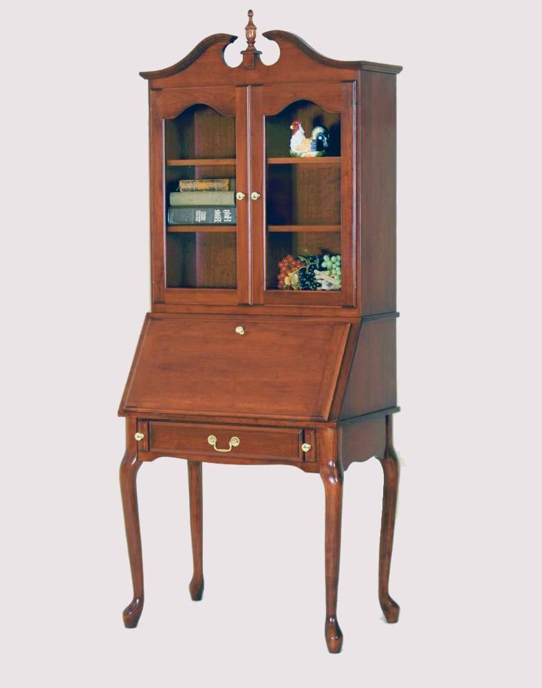 interior furnishing your secretary chic decor with interesting light pin desk home blue hutch staining wooden