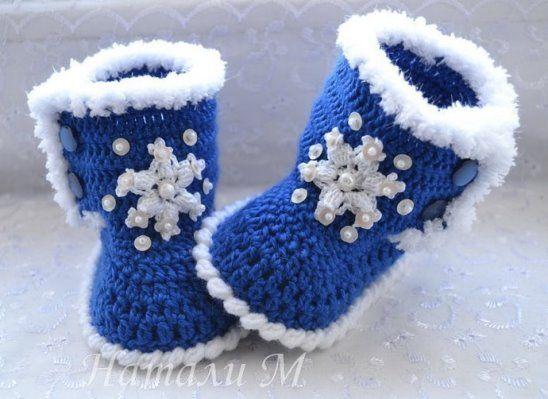 Описание   Crochet - Children/Babies   Pinterest   Escarpines ...