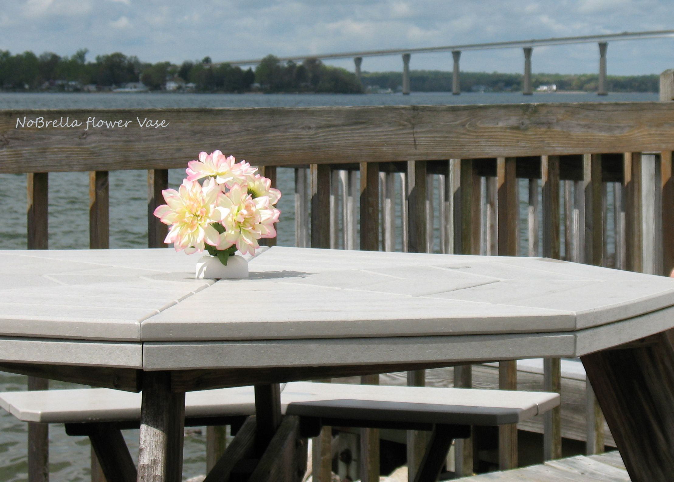 The Flower Creation Station™ Patio Table Umbrella Hole