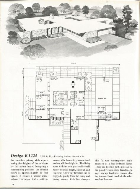 Vintage House Plans Mid Century Homes 1960s Homes Modern Floor Plans Mid Century Modern House Plans Vintage House Plans