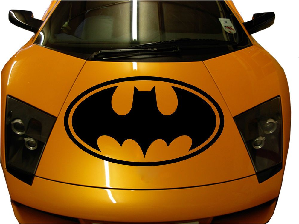 Custom Made Car Hood Batman Premium Decal Sticker Vinyl Sport Auto - Custom vinyl hood decals