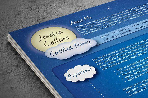 Creative Nanny Resume by Visual Impact on @mywpthemes_xyz Best - nanny skills resume