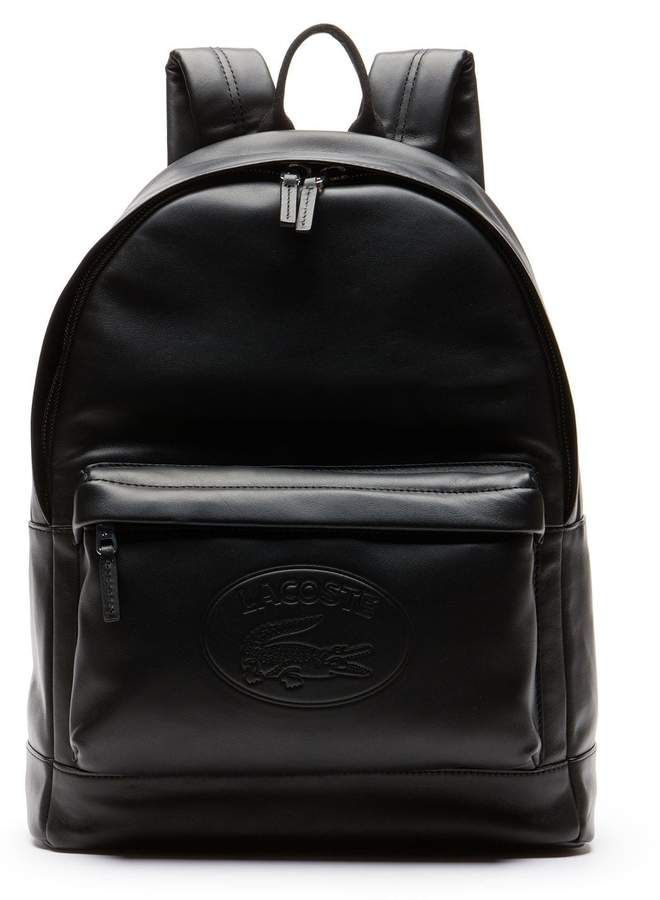 b7caa26eb2 Men's L.12.12 Casual Embossed Lettering Leather Backpack in 2019 ...