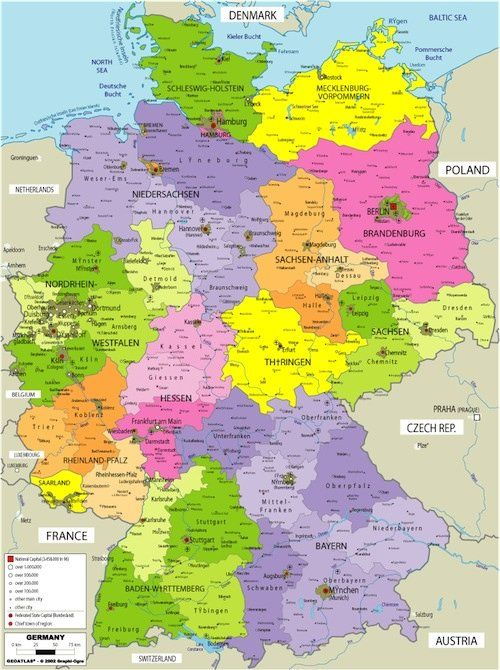 Map Of Germany Austria Regional And Buckets - Map 9f germany