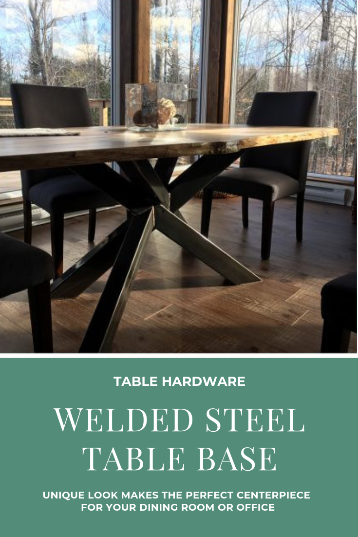 28 H Straw Bundle Original Welded Steel Table Base