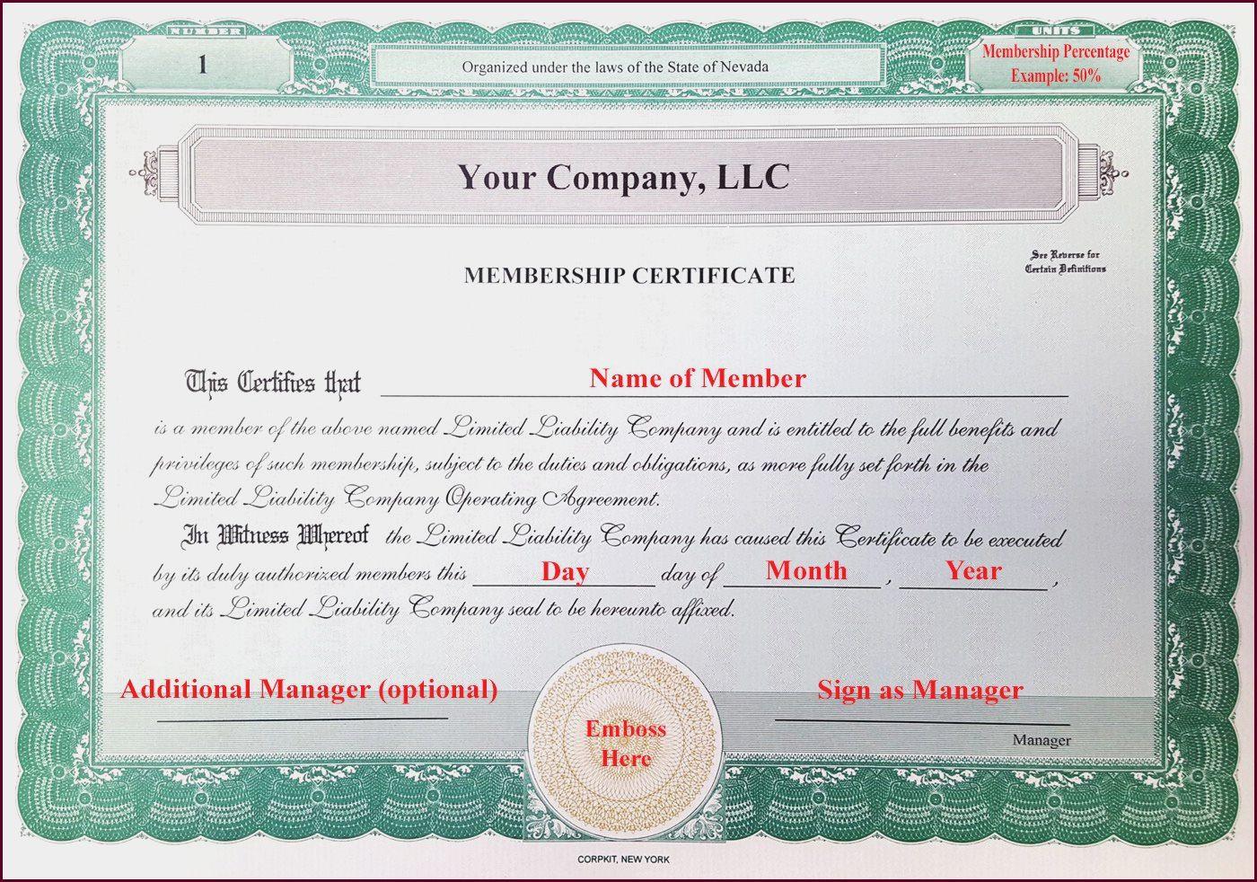 Llc Membership Certificate Template Word Colona Rsd7 With Llc Membership Certificate Tem In 2021 Certificate Templates Certificates Online Birth Certificate Template Llc membership certificate template free