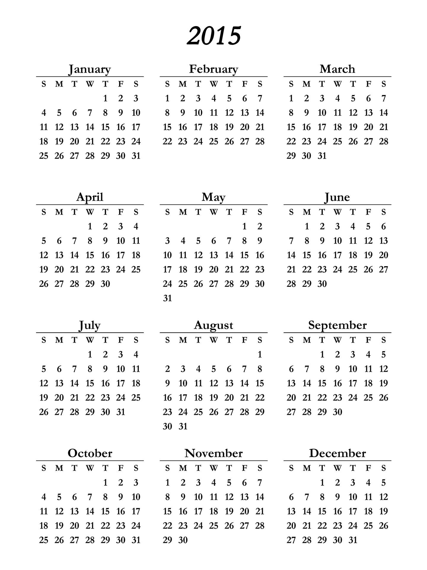 free printable calendars 2015 2018 koni polycode co