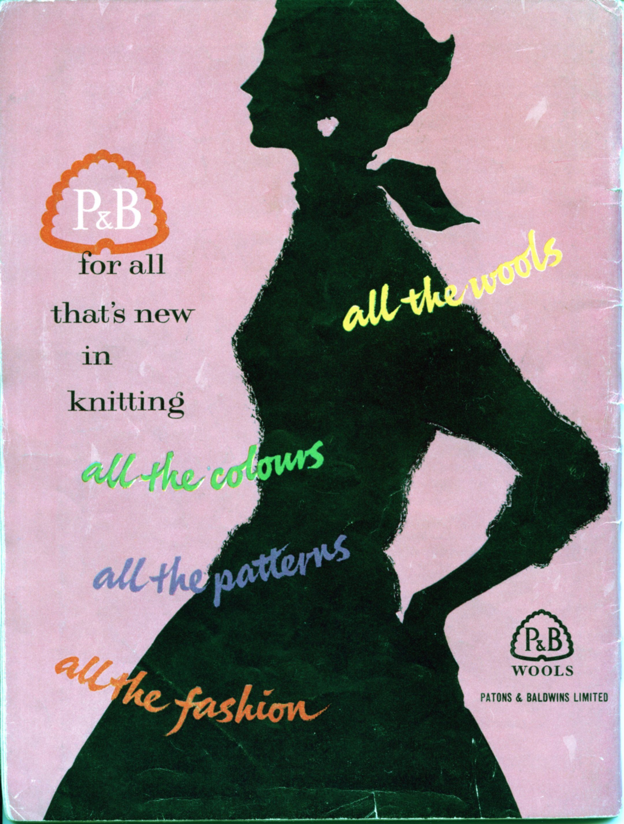 A stylish P wool advertisement from the 1950s. I love this silhouette which epitomises the style of the decade.