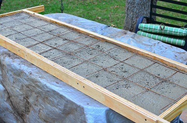 Making The Concrete Countertop For The Outdoor Wood Fired Oven