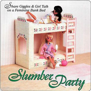 Fashion Doll Barbie Slumber Party Bunk Bed Plastic Canvas Pattern