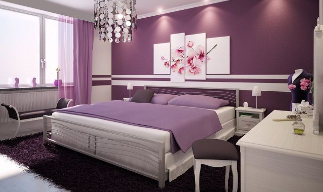Paarse Slaapkamer Inrichten : Slaapkamer inrichten slaapkamer kleuren meer geluk mijn kamer