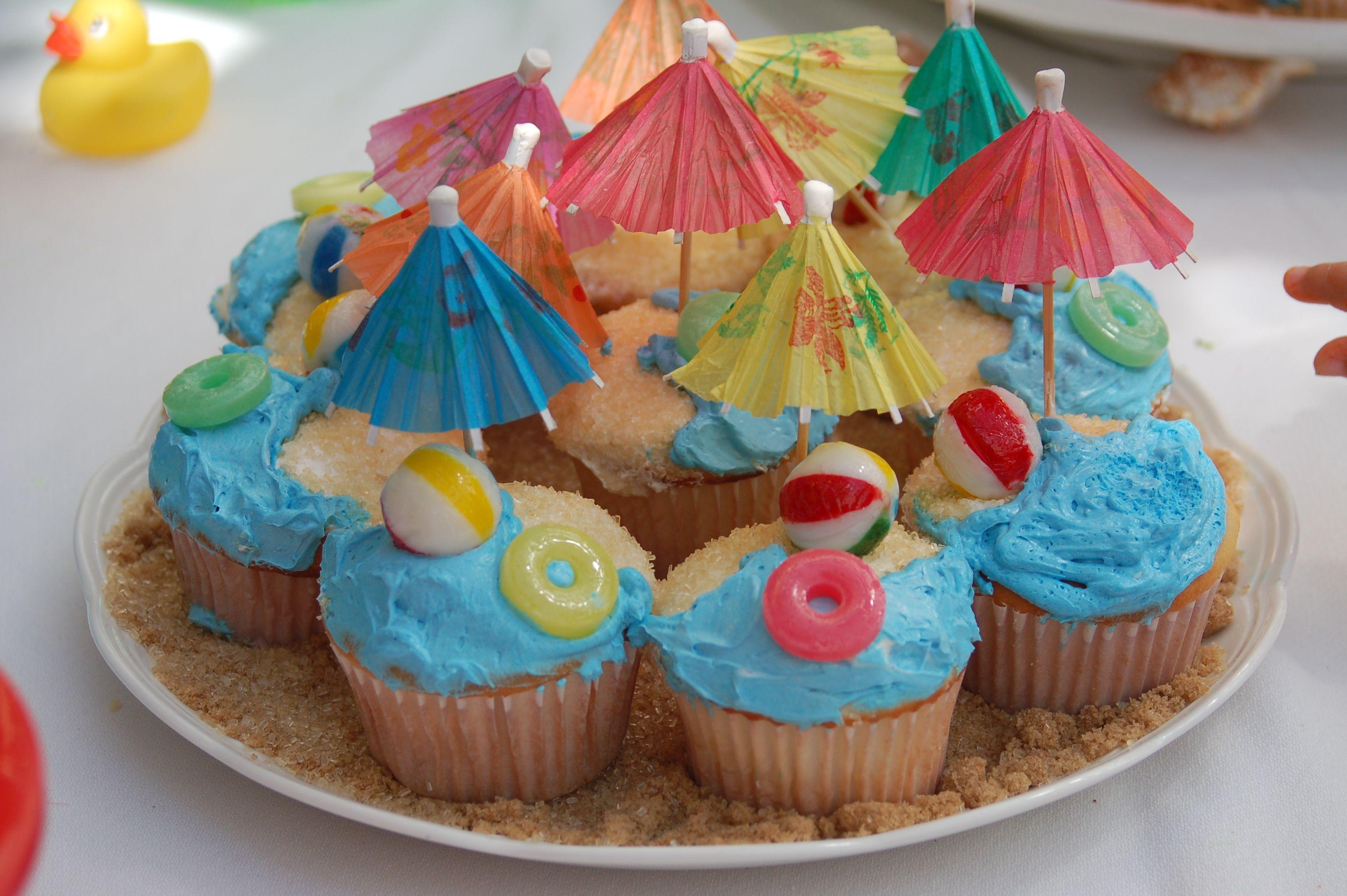Pool Party Cupcakes Cupcakes Summer Cupcakes Beach