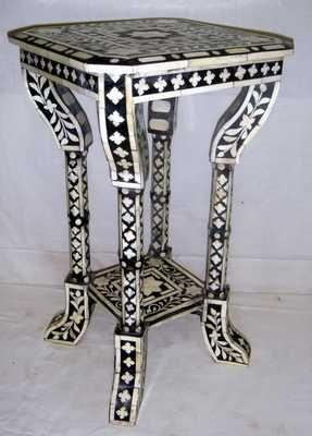 Bone Inlay Furniture, Bone U0026 Horn Inlay Furniture, Bone Inlay Stool, Bone  Inlay