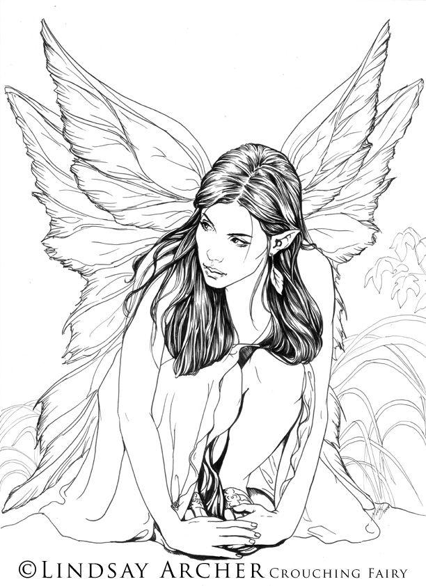 Crouching Fairy by LinzArcher @ DeviantArt | lindas artes ...
