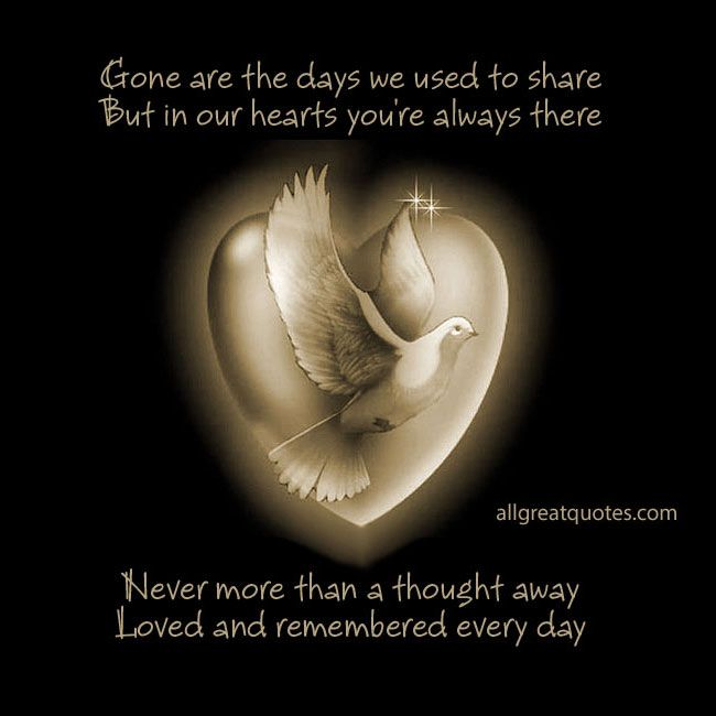 Always In Our Thoughts Forever In Our Hearts Quotes: Gone Are The Days We Used To Share, But In Our Hearts You