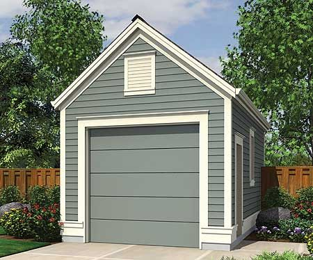 Plan Traditional One Car Garage Floor Plans Building Shed