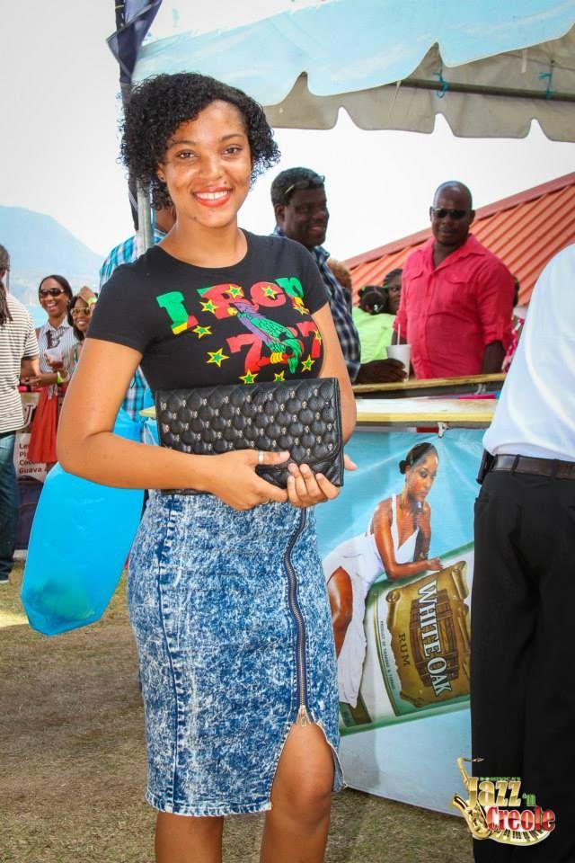 Peep her shirt! #IRep767! Who doesn't? #JazzNCreole2015