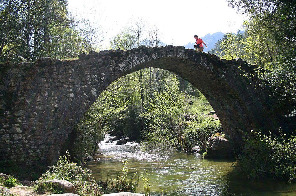 Bastelica (Corse du Sud)- France, the Zipitoli bridge. Jean-Pol Grandmont