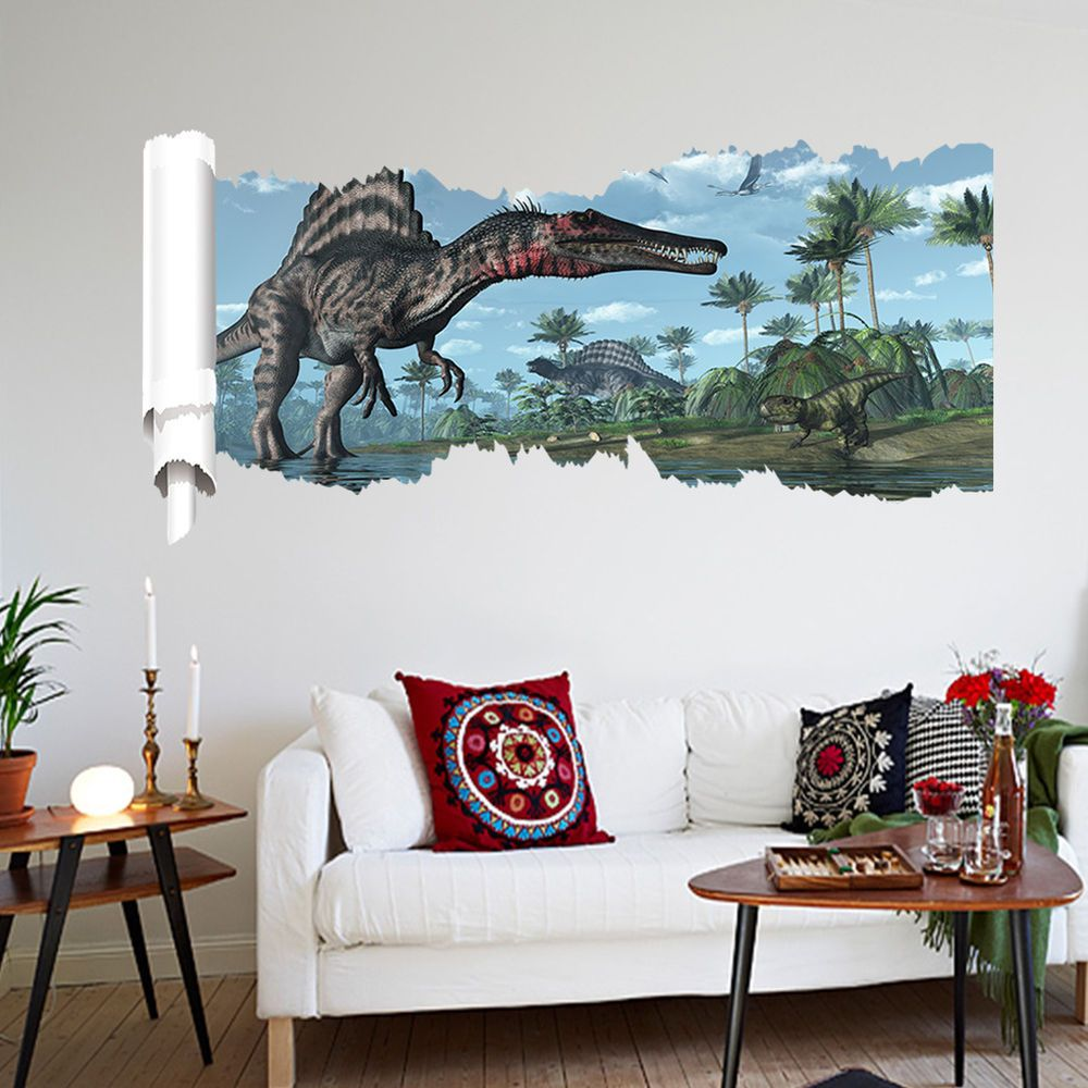 Removable Dinosaur Jurassic Park Kids Room Decor Vinyl Wall - Vinyl wall decals removable how to remove